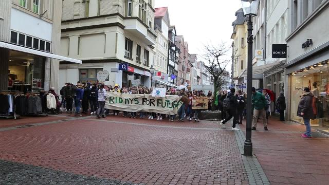 Fridays for Future: Demonstration in der Peiner Innenstadt