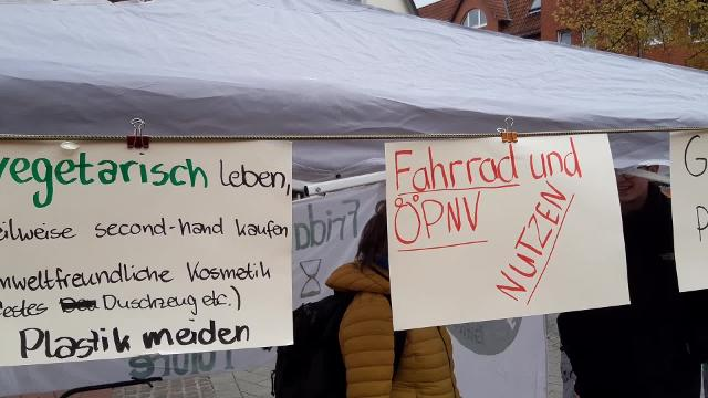 Gifhorn Mahnwache Fridays for future