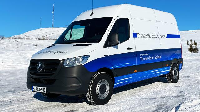 Mercedes-Benz eSprinter - Wintertest in Nordschweden