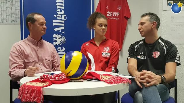 Volleyball-Talk mit Kimberly Drewniok und Davide Carli vom SC Potsdam