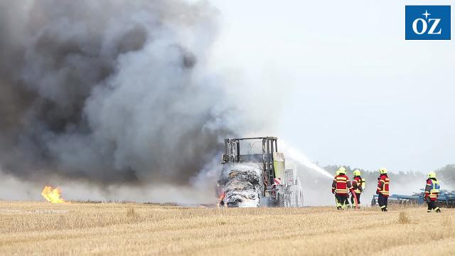 Brand bei Seckeritz - Video: Tilo Wallrodt (12.08.2019)
