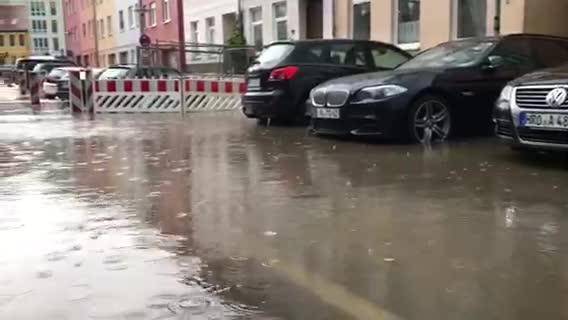 Gewitter am 27. August in Rostock 1 (Video von Andreas Ebel)