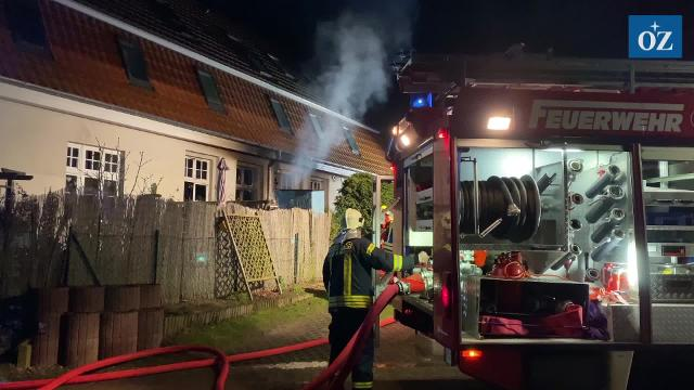 Hund stirbt bei Wohnungsbrand in Freest (Video: Tilo Wallrodt / 16.1.2020)