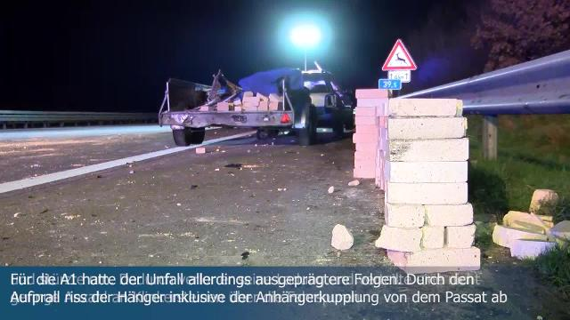 Unfall A1 Oldesloe