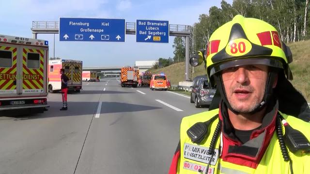 Unfall A7 Bad Bramstedt