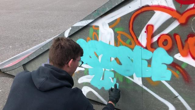 Graffiti Jam in Bad Doberan (J. Schultz, 9.10.2020)