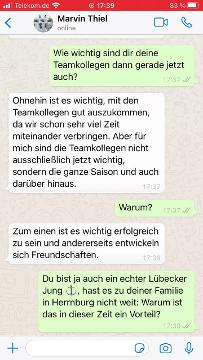 Im Video: Marvin Thiel im WhatsApp-Interview
